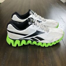 Mens Reebok Zig Tech Smoothfit Athletic Shoes Size 12 US White Black Neon Green