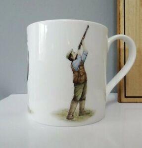 Bone China Shooting Pattern Mug Hand Decorated in Wales