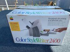 RARE Vintage APPLE Color Style Writer 2400 Printer w/ Manual w 3.5 Original Box