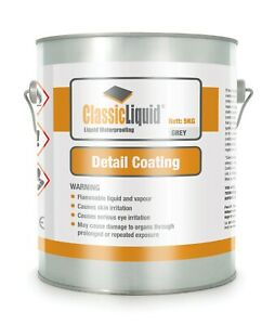 Classic Liquid Detailer for Flat Roofs 5 kg, Liquid paint on waterproof system