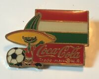 1984 Coca Cola Soda Soccer World Cup Hungry Enamel Pin