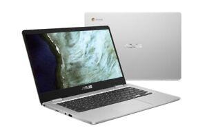 """ASUS C423NA 14"""" (64GB SSD, Intel Processor N3350, 2.40GHz, 4GB RAM) Chromebook -"""