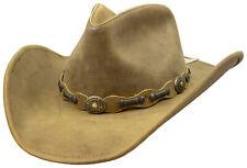 Stetson Roxbury Rust Distressed Shapeable Leather Cowboy Western Hat - Medium