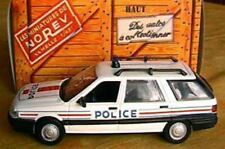 RENAULT 21 NEVADA BREAK POLICE 1989 NOREV HACHETTE 1/43 NO GENDARMERIE WHITE