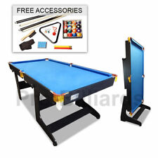 6FT Foldable Billiard Snooker Pool Table Free Metro Delivery - Blue Felt