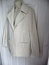 Talbots 10 NWT Coat Cream White Button Down Fanned Out Back Swing $270 Wool