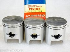 Kawasaki NOS NEW  13001-043 STD Piston (3) S2 Mach II 1972-73