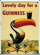 Guinness Weather Vane mini metal sign / postcard  110mm x 80mm (hi)