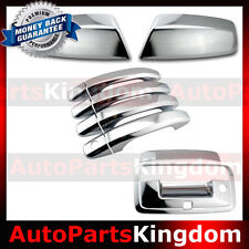 14-16 GMC Sierra 1500 Chrome Top Mirror+4 Door Handle+Tailgate w/Camera Ho Cover