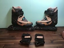 Woman's K2 EXTREME ROLLERBLADES - Size 7.5 With wrist guards