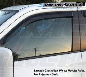 Window Visors Rain Guard 4pc In Channel For Nissan Titan 04 05-15 Crew Cab LE XE