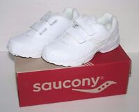 Saucony White Leather Boys Toddler Kids Shoes Size 5.5 W Wide Sneakers Stride