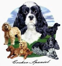 COCKER SPANIEL DOG  T-SHIRT IN COLORS WS712