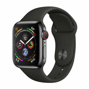 Apple Watch Series 4 44 mm Space Black Stainless Steel Case with Black Sport Ban
