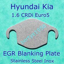 EGR Valve Blanking plate Kia Hyundai 1.6 CRDi U2 2009 / 2015 Euro5 Cee'd i20 i30