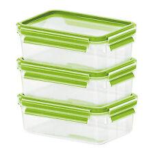 Emsa CLIP & CLOSE GLAS grün Frischhaltedose Set 3 x 0,5 L Glasdose Vorratsdose