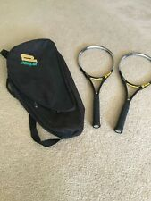 "Two(2) Prince Precision Approach Midplus Tennis Racquets 4 5/8"" plus bag"