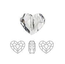 Swarovski Crystal Faceted Love Beads Heart 5741 Clear  8mm Package of 24