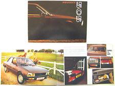 Peugeot 505 Saloon GR Ti SR STi GRD SRD 1979-80 Original UK Market Brochure