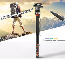 Q188 Portable Photography Video Lightweight Fluid Head Monopod for DSLR Camera