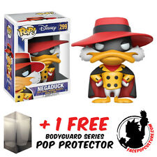 FUNKO POP DARKWING DUCK NEGADUCK EXCLUSIVE VINYL FIGURE + FREE POP PROTECTOR