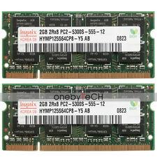 Hynix 4GB 2x2GB PC2-5300S DDR2-667 200 pin SDRAM SODIMM Laptop Memory Module RAM
