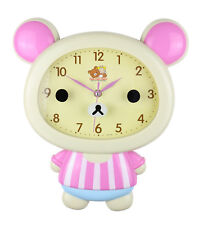 "Beige Bear Children's Wall Clock Cute Home Decor Kawaii 14"" x 12"""