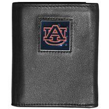 Auburn Tigers Leather Tri-fold Wallet Black Men's Trifold