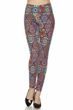 ONE SIZE Soft Always Brushed Floral Pattern Leggings TC/19