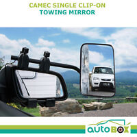 Camec Clip-On Towing Mirror Flat Glass for Caravan Camper Boat Trailer