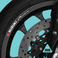SKU3006 - 10 x Suzuki Bandit Wheel Rim Stickers Decals Transfers