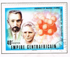 Central Africa Famous physicists Pierre and Maria Curie stamp 1976