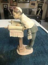"Rare Retired 8 1/4"" Lladro #6004 Bar Mitzvah Day Boy wTorah Figurine Glazed Mint"