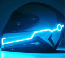 Bande Led Pour Casque Moto  Shark  Shoei 3 Fonctions Coloris bleu