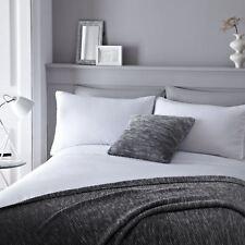 Blanc Mélange de Coton Pintuck Pom Pom Duvet Individuel Housse Confortable