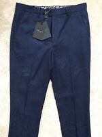 "TED BAKER MEN'S DARK BLUE ""WELLTRO"" TROUSERS PANTS CHINOS - 30R - NEW & TAGS"