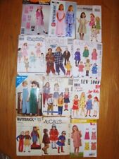 VTG LOT of Girls sz 2-8 dress outfits patterns Simplicity McCalls Butterick PJs