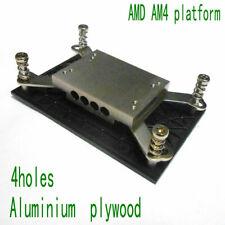 4holes AMD AM4 platform aluminum plywood block for diameter 6mm heat pipe