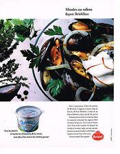 PUBLICITE ADVERTISING 074  1989  BRIDEL  creme  BRIDELICE pour moules