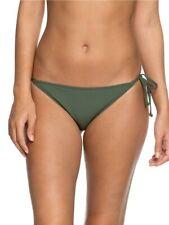 Roxy Mini Bikini Bottoms Goldy Sandy Khaki Green S, L UK8 12 Tie Side BNIB Beach