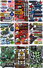 SET 11 BOGEN Sponsoren Car Automotive Racing Tuning Sticker Aufkleber - B