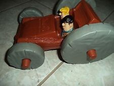 Flinstones Cartoon Character Flip Over Car Fred Barney Pebbles Bam Bam