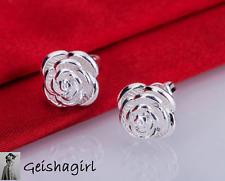 925 argento Sterling Rosa Orecchini gioielli ear donne UK Venditore