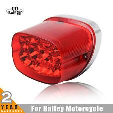 Harley Davidson Red Chrome Trim Lens LED Tail License Brake Light Assembly