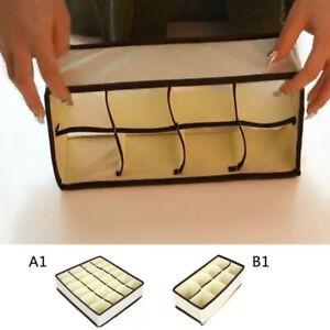 1x 8/24Grid Closet Organizer Box Underwear Bra Socks Ties Scarves Storage Drawer