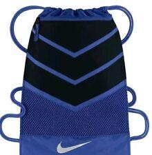 Nike Vapor Gym Bag Sack Drawstring Blue Black Gray Gymsack New