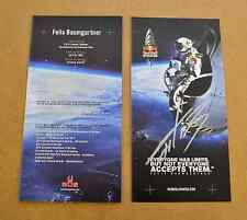 FELIX BAUMGARTNER GENUINE SIGNED AUTOGRAPH PHOTO CARD SKYDIVER BASE JUMPER + COA