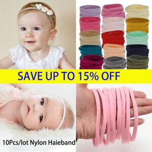 10PC Baby Soft Skinny Nylon Headband 1cm Elastic Hair Bands DIY Hair Accessories