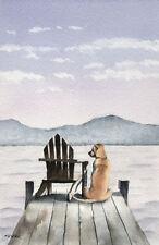 LABRADOR RETRIEVER Painting DOG 6.5 x 10 Art Print Signed by Artist DJR