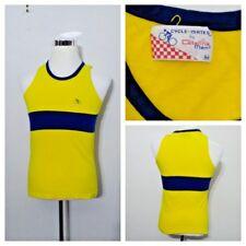 1970's Cycle-Mates Catalina Shirt Men's M Yellow and Blue High Grade Inv#S8230